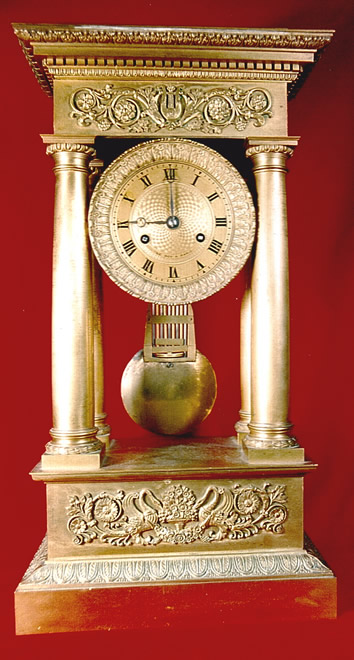Le Roy French Portico Clock