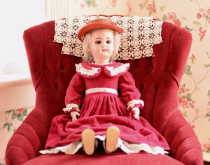 Bisque Head Doll with Hat