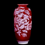 Red Cameo Vase