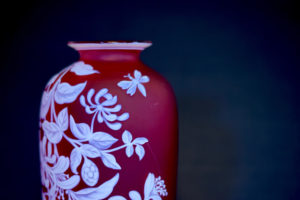 red cameo vase thomas webb and sons